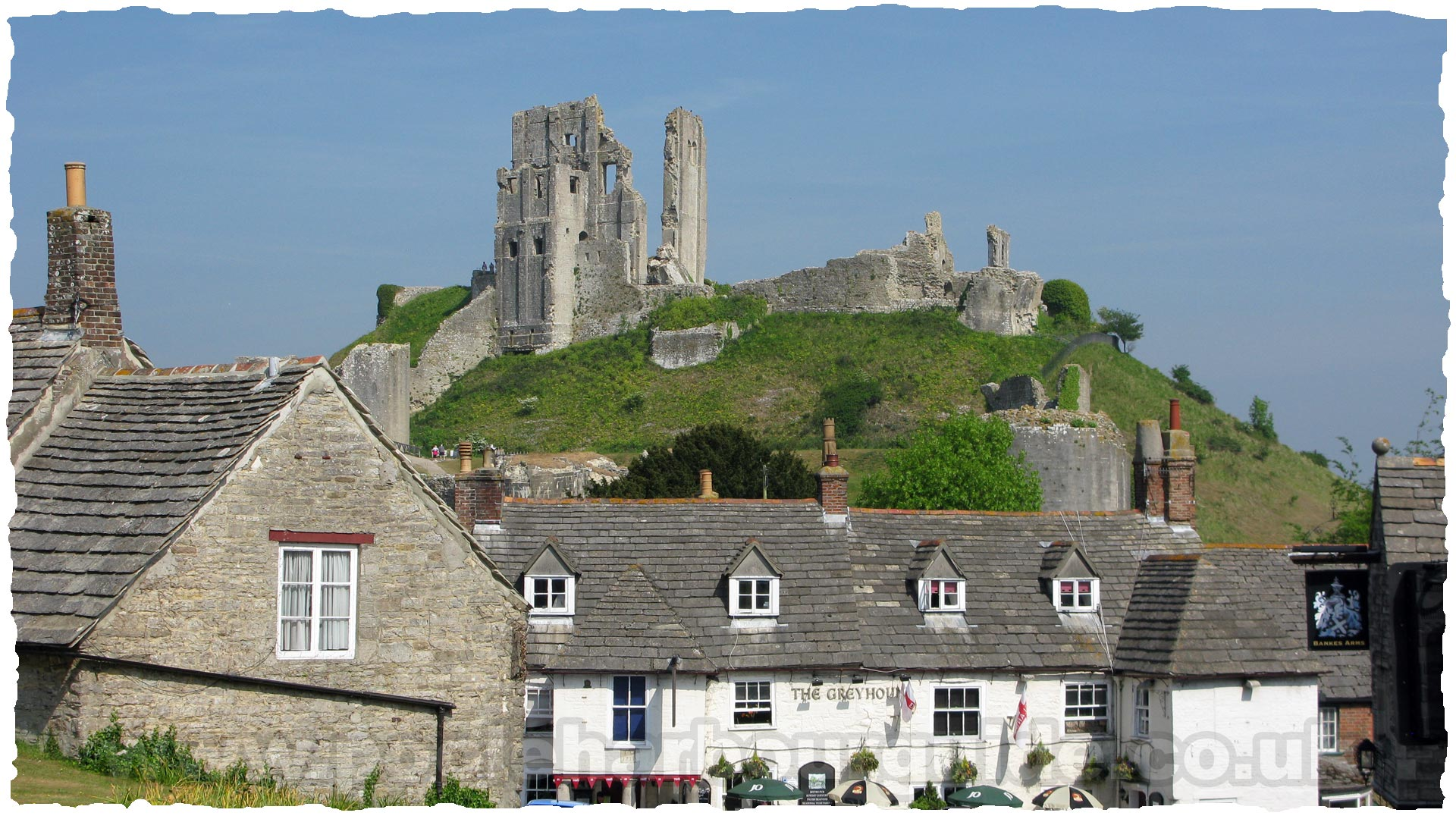 Corfe Castle Corfe Castle, The Greyhound Inn, Corfe Castle