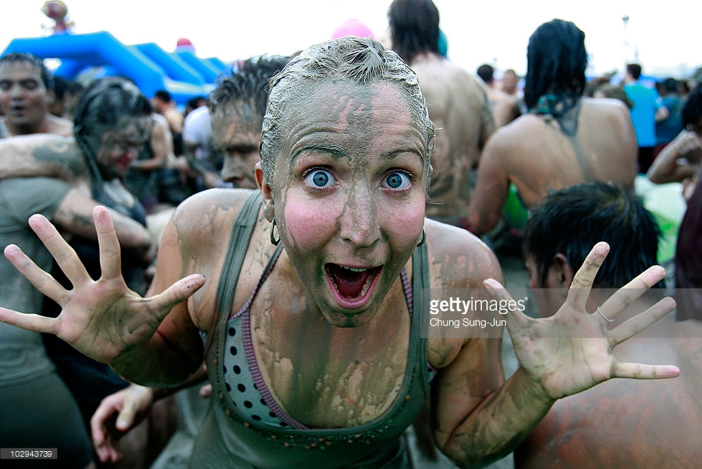 Daecheon Beach Boryeong, 13th Annual Mud Festival Takes Place In Boryeong Photos and Images ...