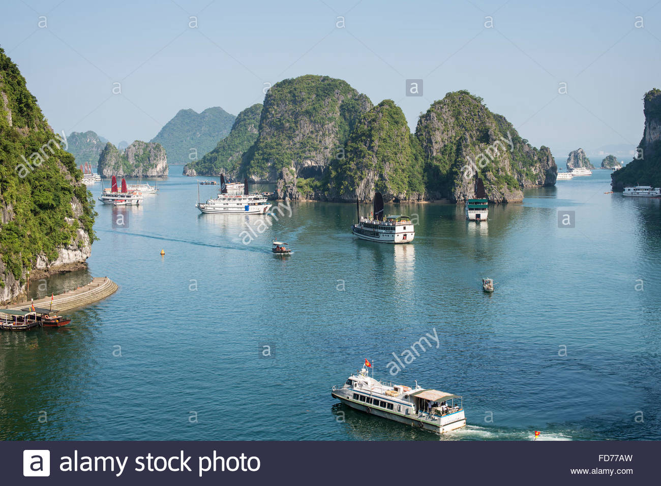 Dao Titop Halong Bay, View from Dao Titop, Halong Bay, Vietnam Stock Photo, Royalty Free ...