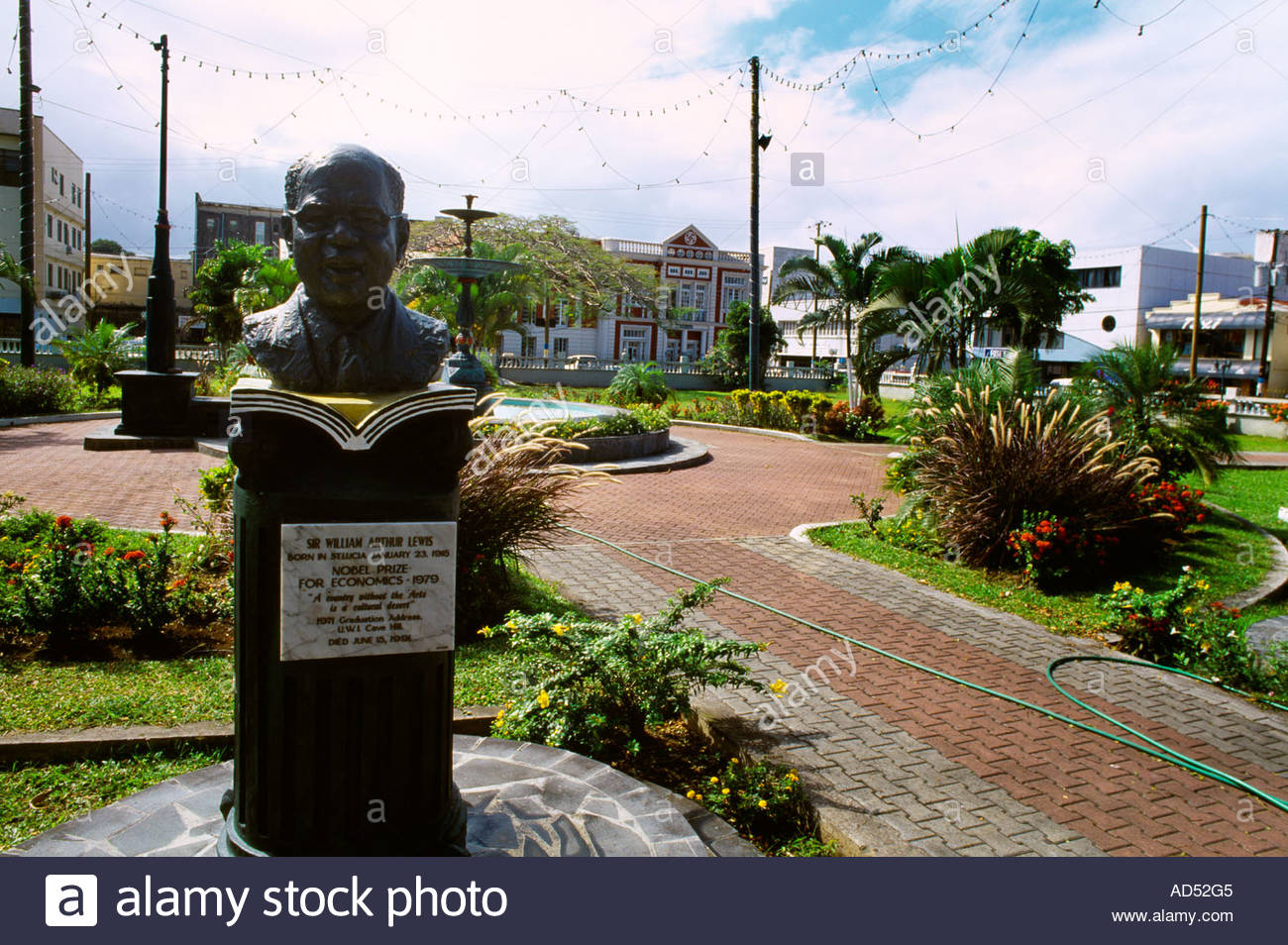 Derek Walcott Square Castries, Castries St Lucia Derek Walcott Square Bust of Sir William Arthur ...
