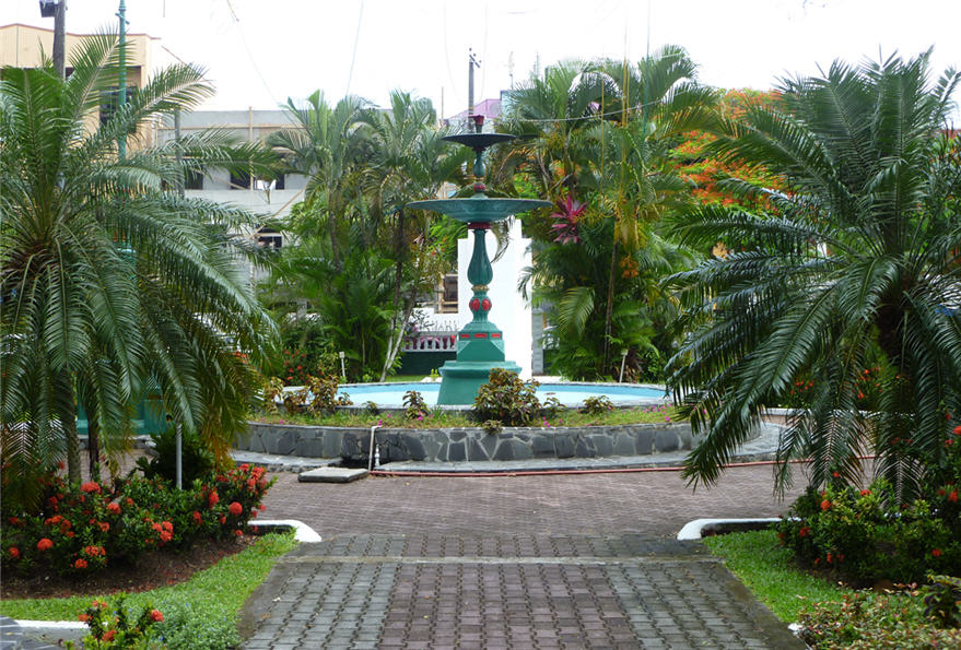 Derek Walcott Square Castries, A blanket in the clover: Day Four: Castries