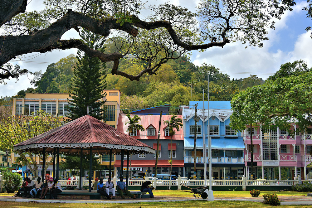 Derek Walcott Square Castries, Derek Walcott Square in Castries, Saint Lucia | Encircle Photos