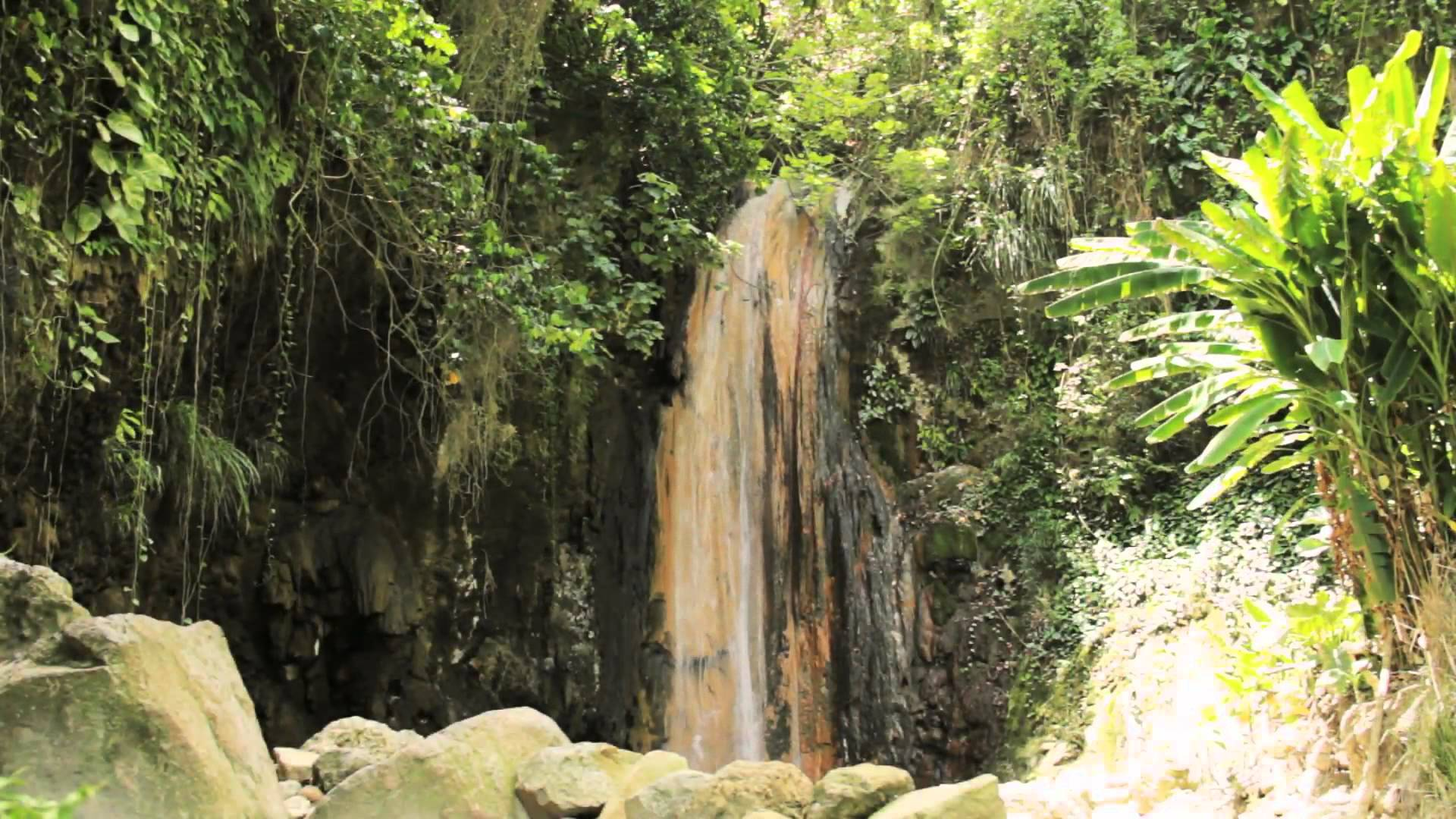 Diamond Falls Botanical Gardens & Mineral Baths Soufrière & The Pitons, Diamond Waterfall - Botanical Gardens in Soufrière, St Lucia (May ...