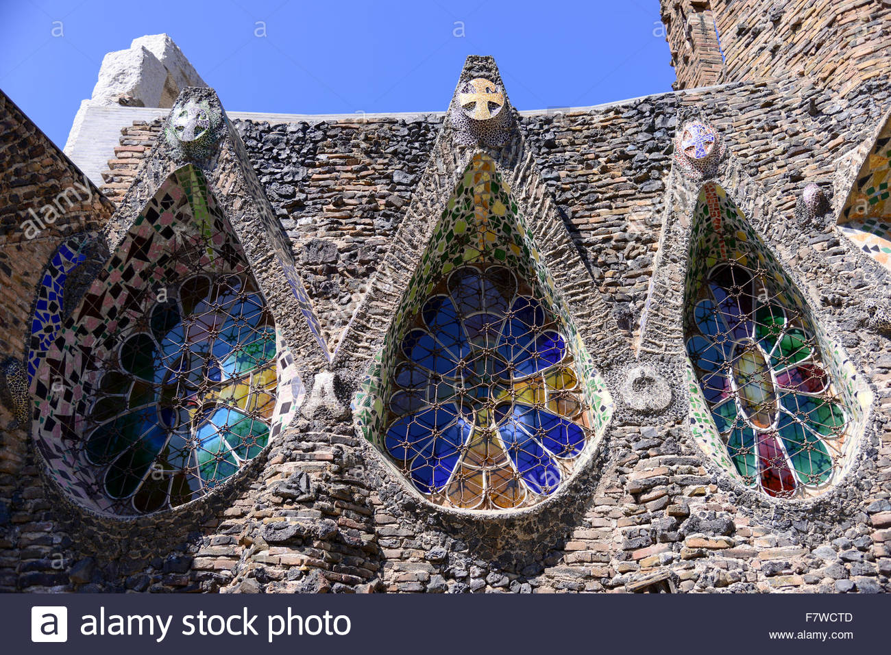 Disseny Hub Barcelona, Colonia Guell, Barcelona, Spain Stock Photo, Royalty Free Image ...