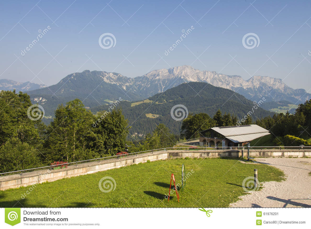 Dokumentation Obersalzberg The Bavarian Alps, Obersalzberg Close To Berchtesgaden In Germany, 2015 Stock Photo ...