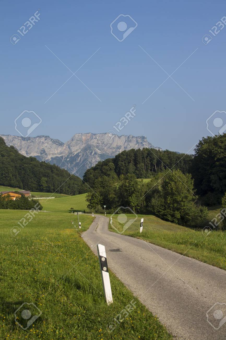 Dokumentation Obersalzberg The Bavarian Alps, View On The Mountain Obersalzberg In The Bavarian Alps Stock Photo ...