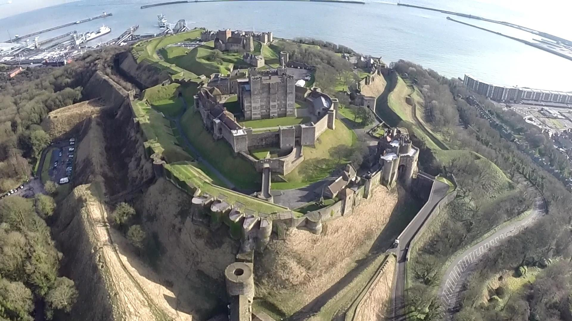 Dover Castle Dover, Dover Castle (Kent) TBS DISCOVERY FPV - YouTube