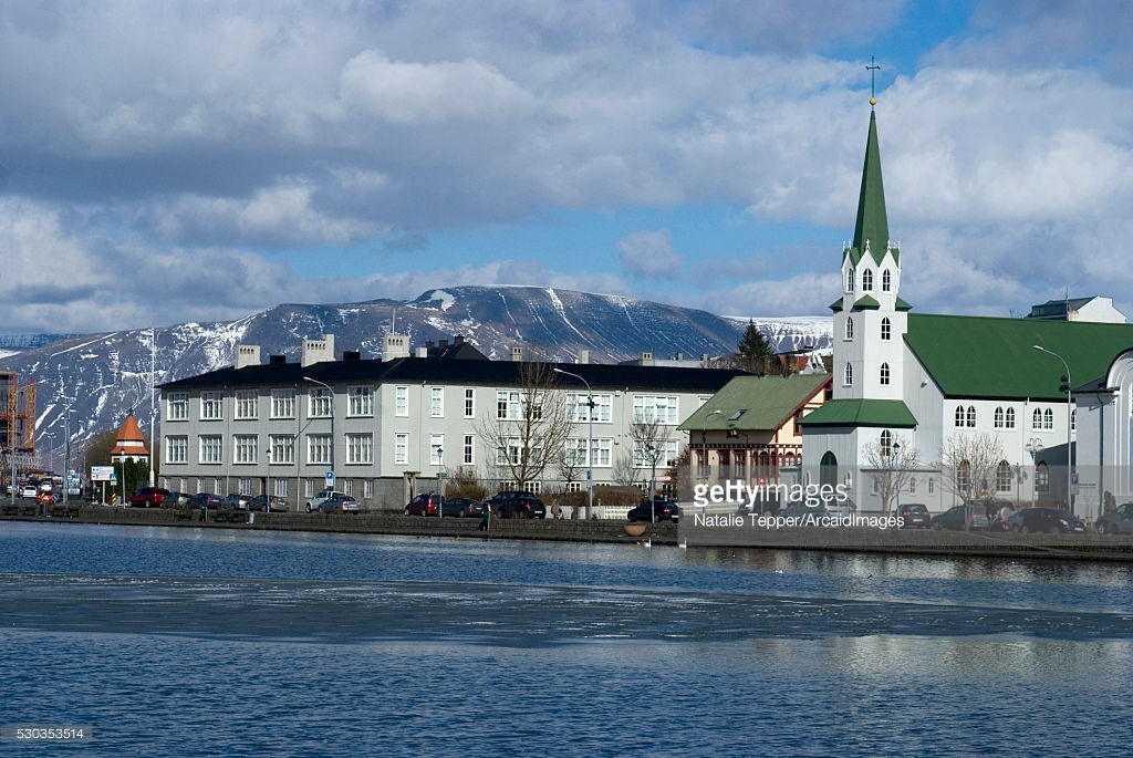 Drangey Sauðárkrókur, View Of Reykjavik From Tjornin Iceland Stock Photo | Getty Images