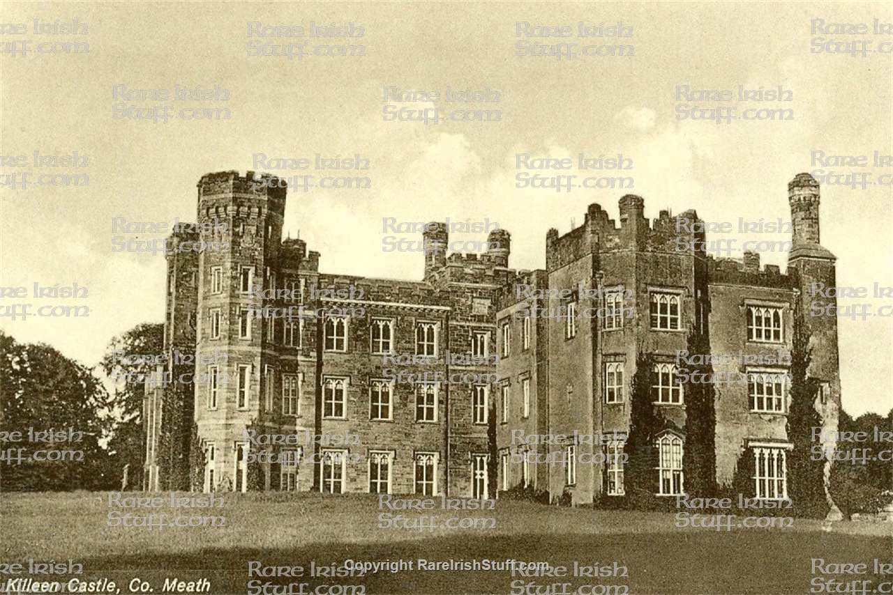 Dunsany Castle County Meath, Meath Rare Antique Irish Town & Village Picture for sale Early 1900