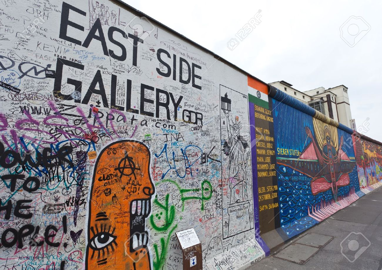 East Side Gallery Berlin, Famous East Side Gallery, The Historic Division Wall In Berlin ...