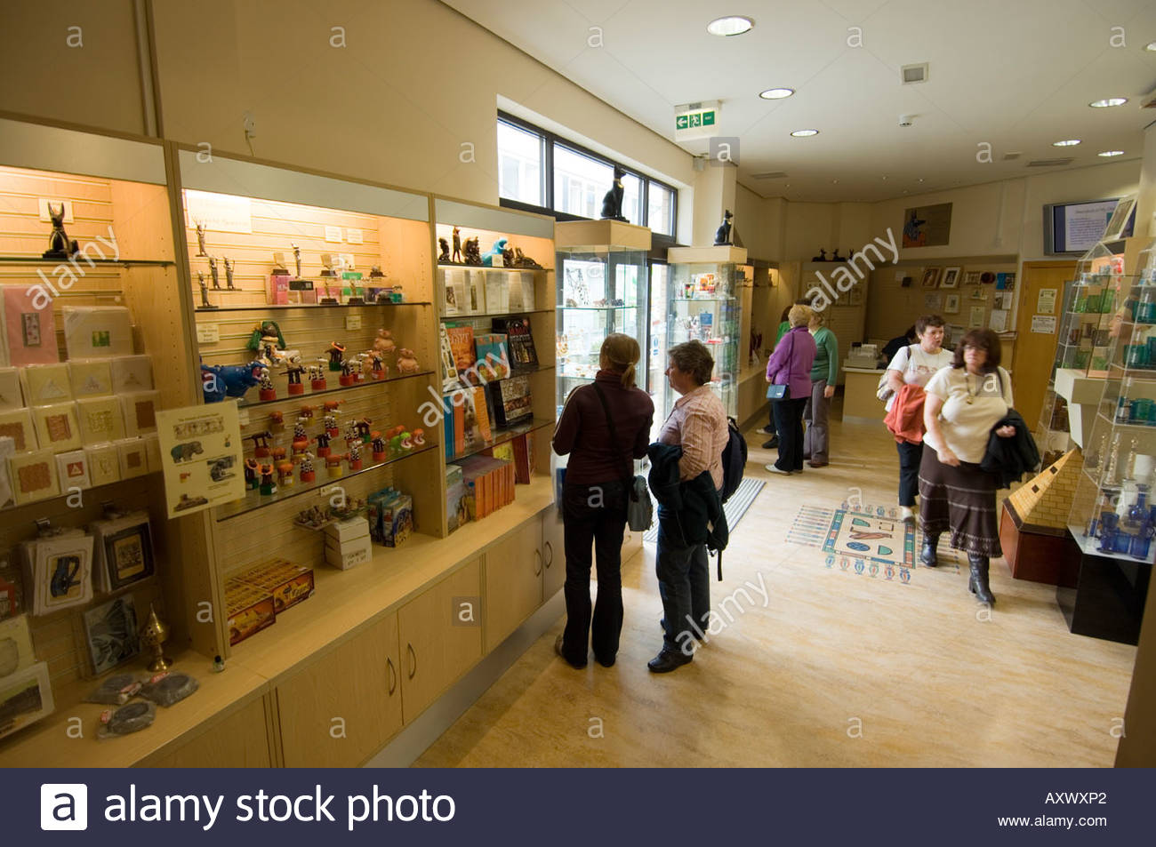 Egypt Centre Swansea (Abertawe), people in The Egypt Centre, University of Wales Swansea, UK Stock ...
