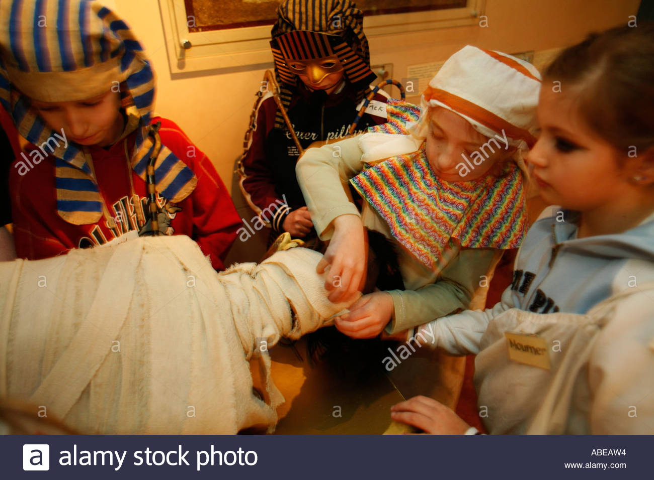 Egypt Centre Swansea (Abertawe), Children recreate embalming at the Egypt Centre at Swansea ...