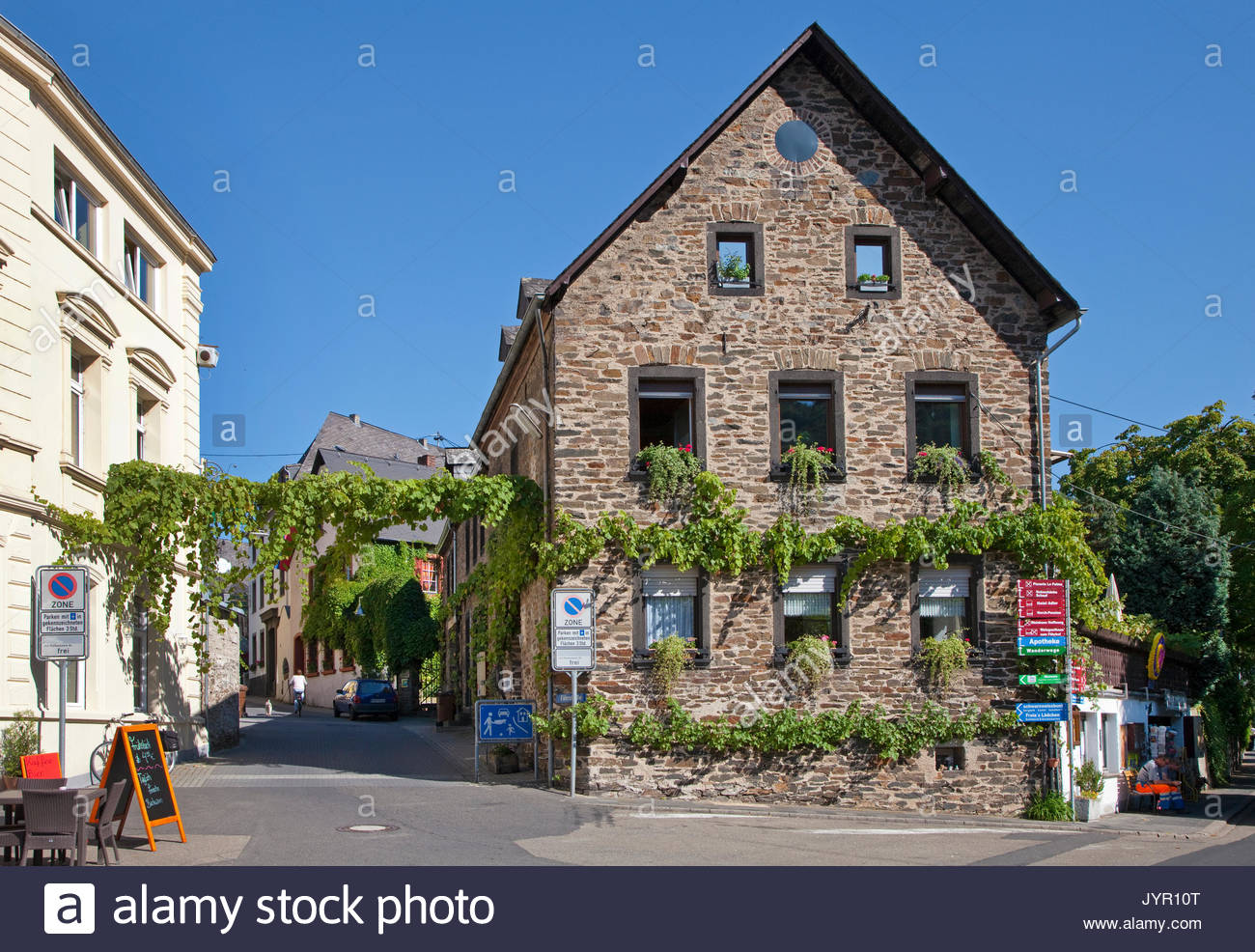 Wochenmarkt The Pfalz and Rhine Terrace, Koblenz Stock Photos & Koblenz Stock Images - Alamy