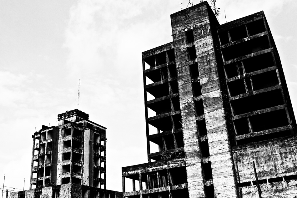 EJ Roye building Monrovia, Ruins of National Bank of Liberia & E.J.Roye Building, Monrovia ...