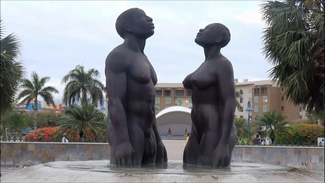 Statue of Norman Manley Kingston, The Emancipation Park in Kingston - YouTube