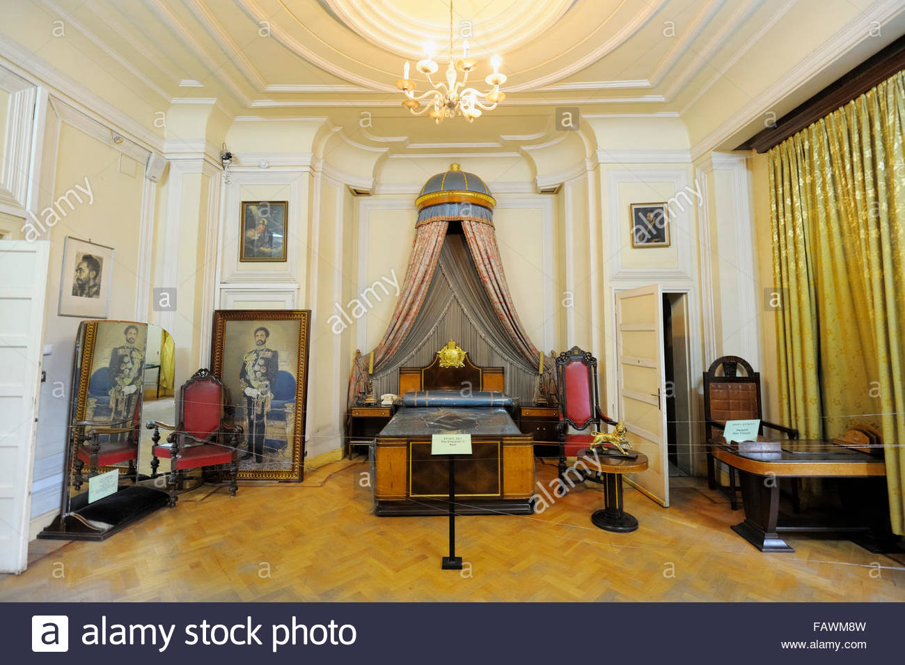 Ethnological Museum Addis Ababa, Emperor Haile Selassie's Bedroom, Ethnographic Museum of the Stock ...