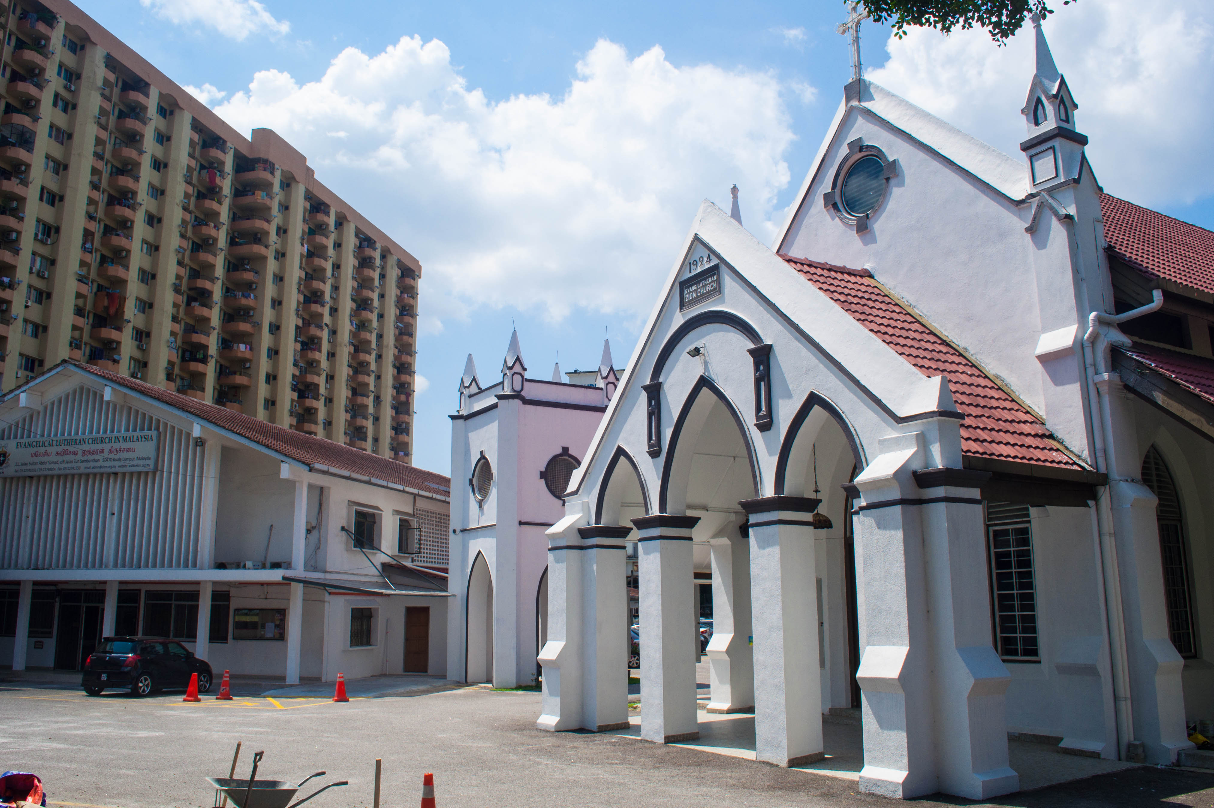 Evangelical Zion Lutheran Church Kuala Lumpur, What Wat? Zion Cathedral   cambodian beginnings