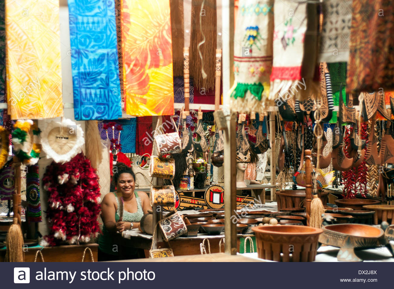 Flea Market Apia, craft stalls, Flea Market, town Center, Apia, Samoa Stock Photo ...