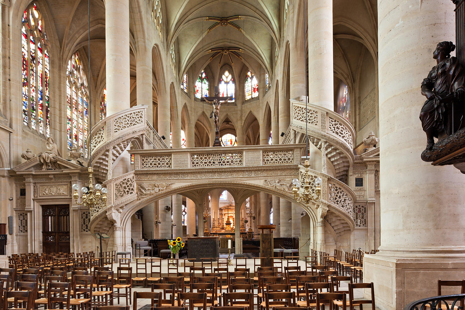 Tour Saint-Jacques Paris, Photostock Arnaud Frich rood screen and choir of saint Etienne du ...