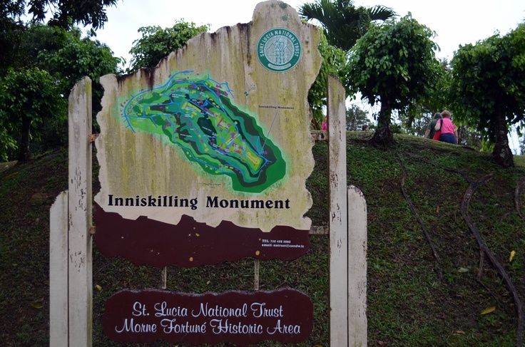Fort Charlotte Castries, Inniskilling Monument St. Lucia - This monument, which is located ...