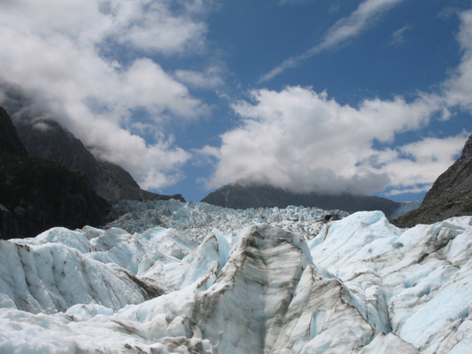 Fox Glacier Lookout Fox Glacier, Fox Glacier - Terminal face walk, West Coast, NZ - 175 travel ...