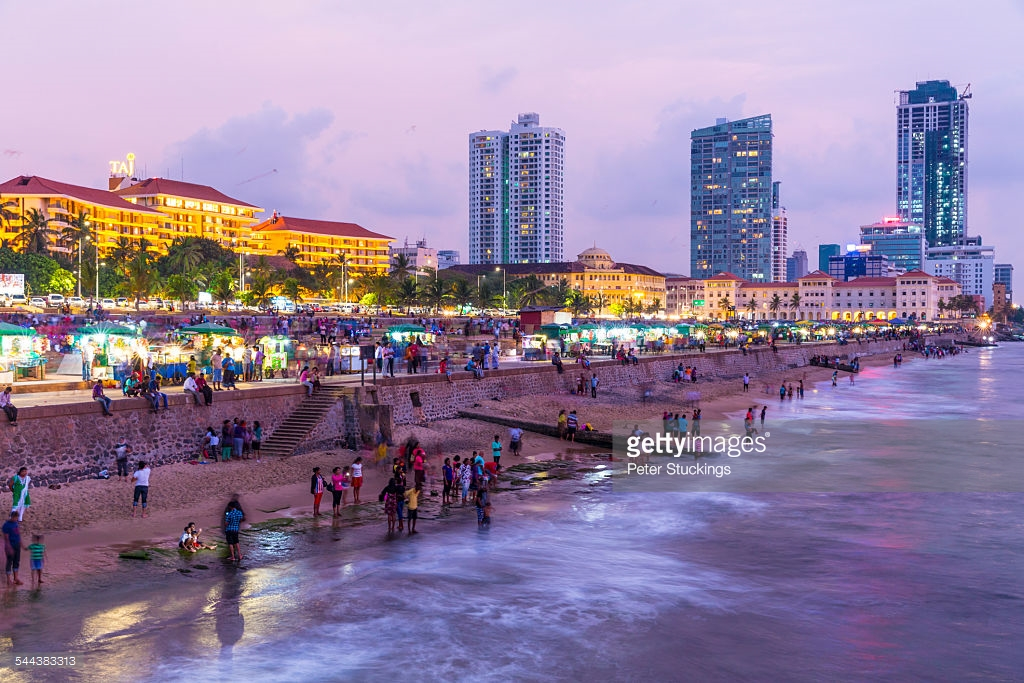 Galle Face Green Colombo, Galle Face Green At Sunset Colombo Sri Lanka Stock Photo | Getty ...