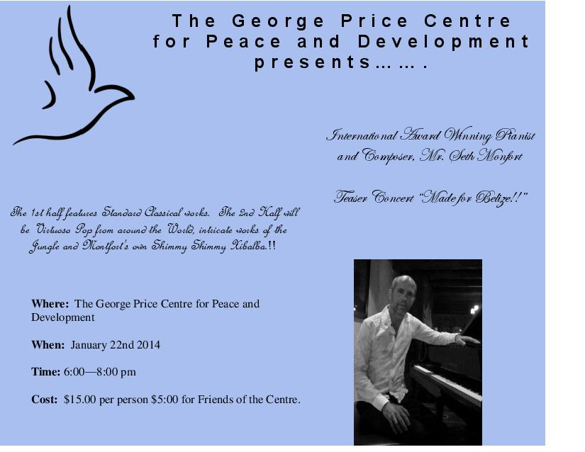 George Price Centre for Peace and Development The Cayo District, GPC » What's On