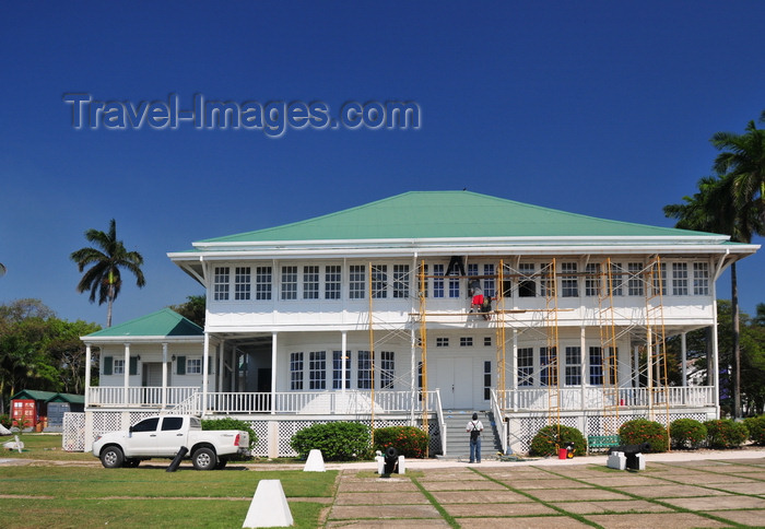 Government House Belize City, Belize City, Belize: Caribbean façade of the Government House ...