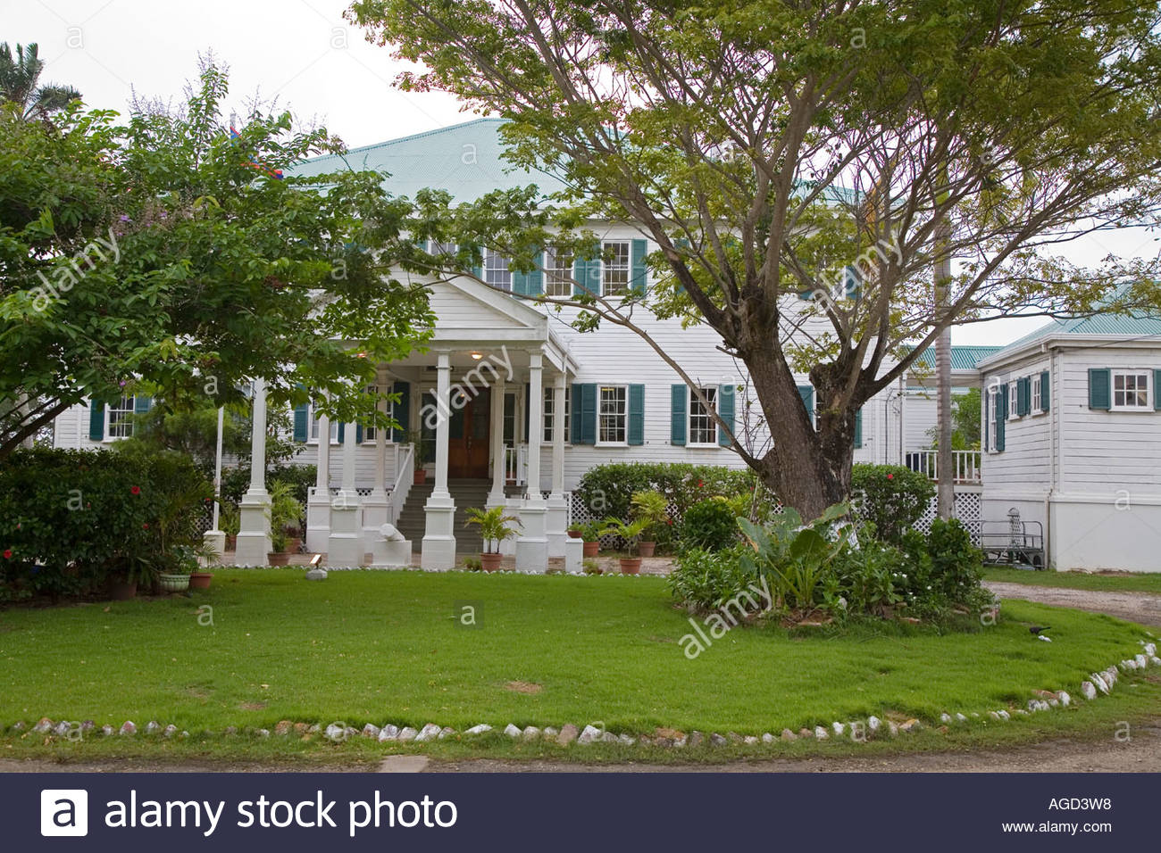 Government House Belize City, Government House in Belize City Stock Photo, Royalty Free Image ...