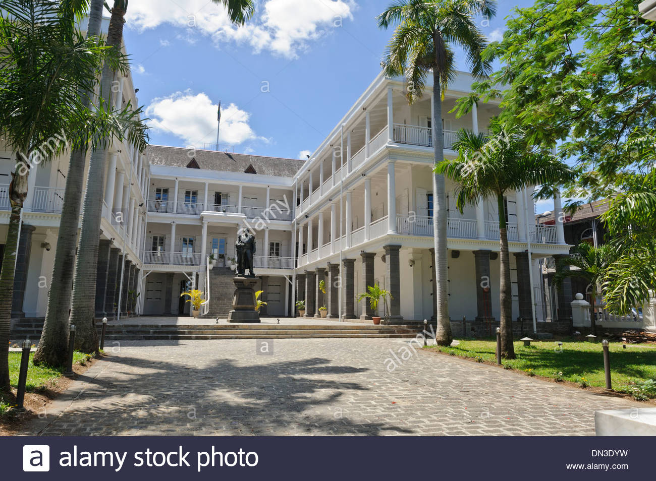 Government House Port Louis, The Government House, Port Louis, Mauritius Stock Photo, Royalty ...