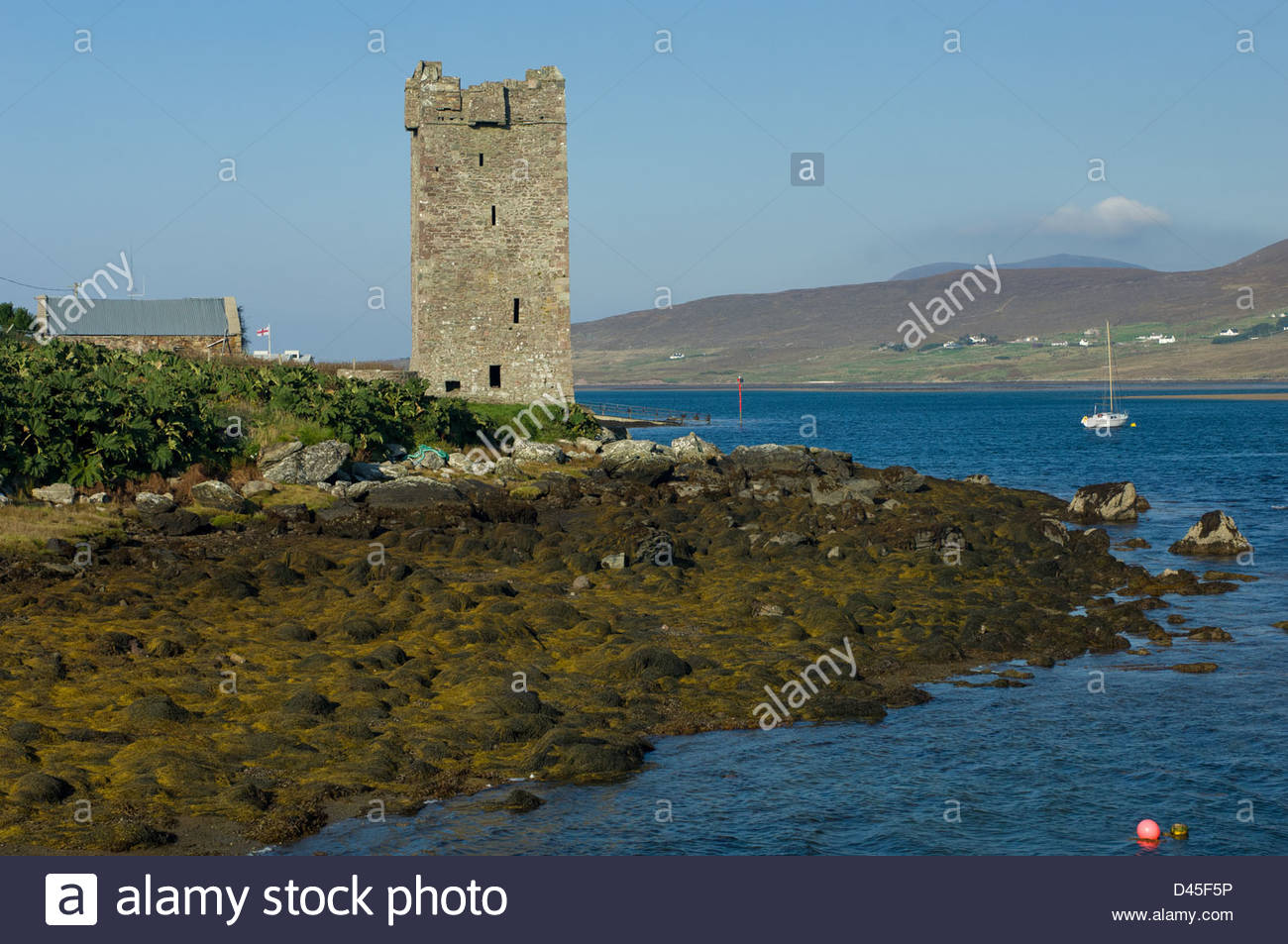 Grace O'Malley's Castle Achill Island, Grace O'Malley's Tower (Kildavnet Castle) a 16th century tower on ...