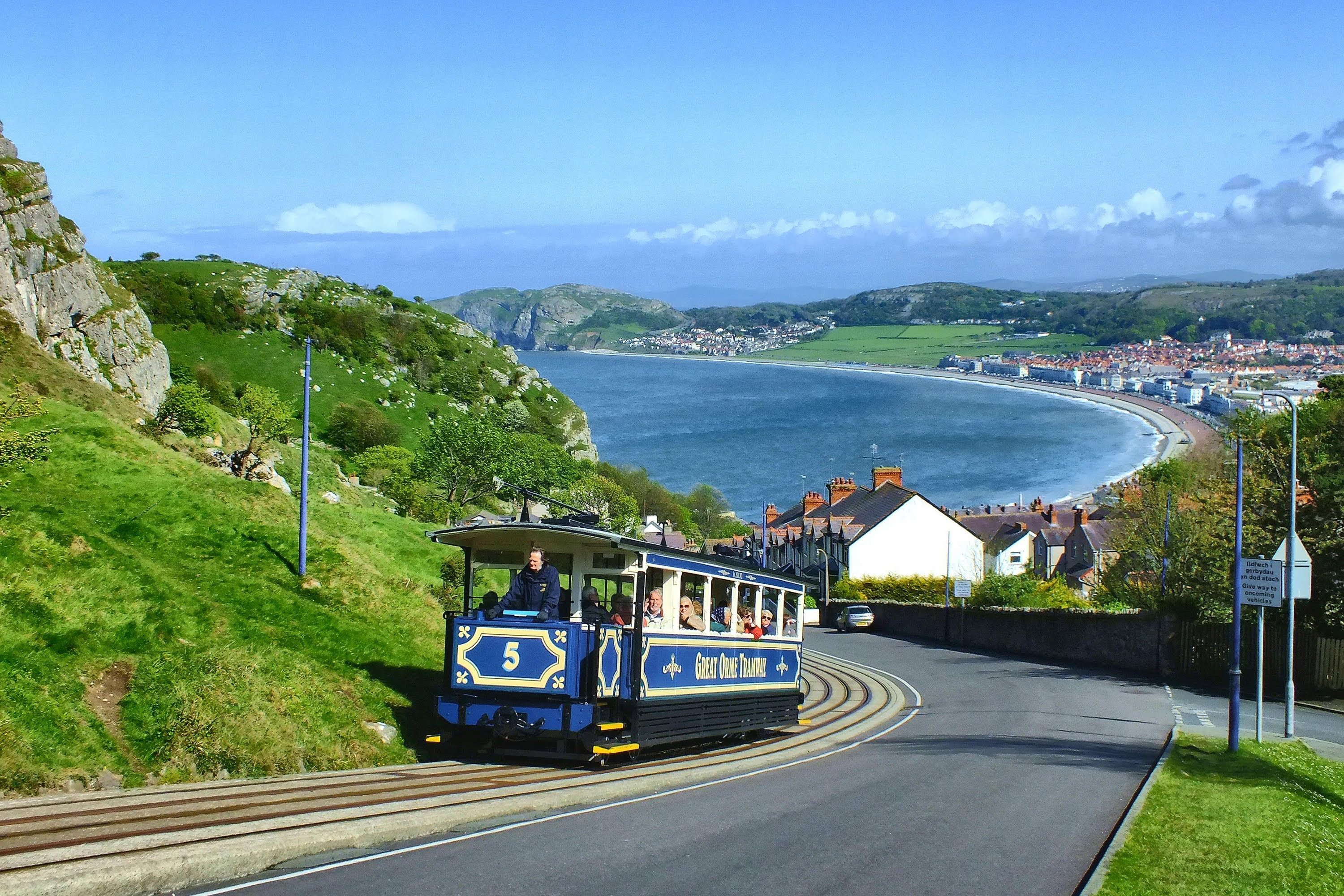 Great Orme Llandudno, The Great Orme Tramway - YouTube