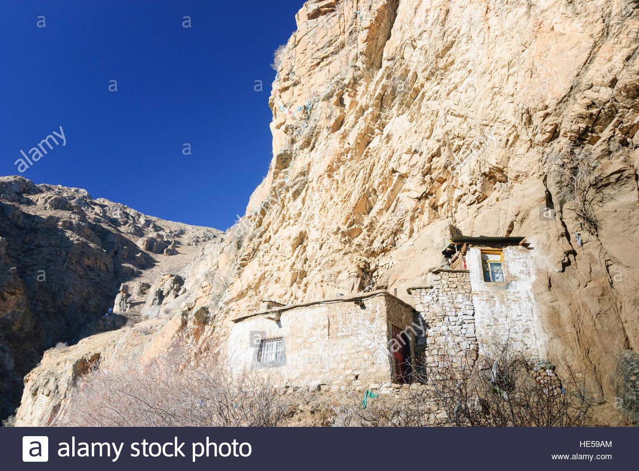 Guijie Beijing, Lhasa: Mountains around the Sera Monastery with houses of the ...