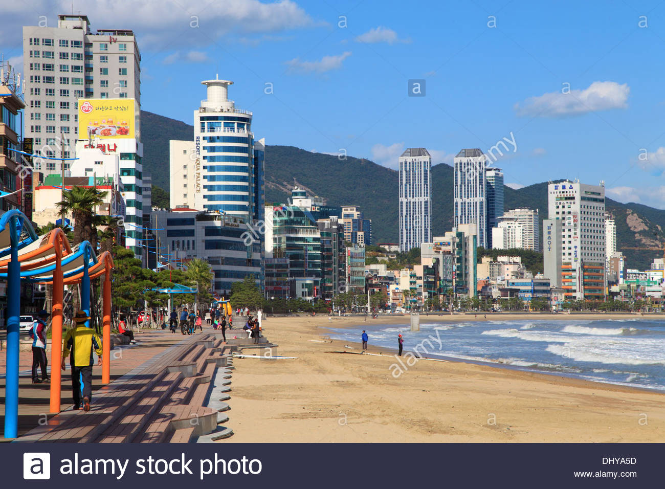 Gwangalli Beach Busan, South Korea, Busan, Gwangalli Beach, skyline Stock Photo, Royalty ...