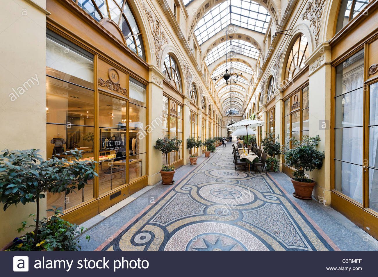 Hôtel Drouot Paris, Shops and cafe in the Galerie Vivienne in the 2nd Arrondissement ...