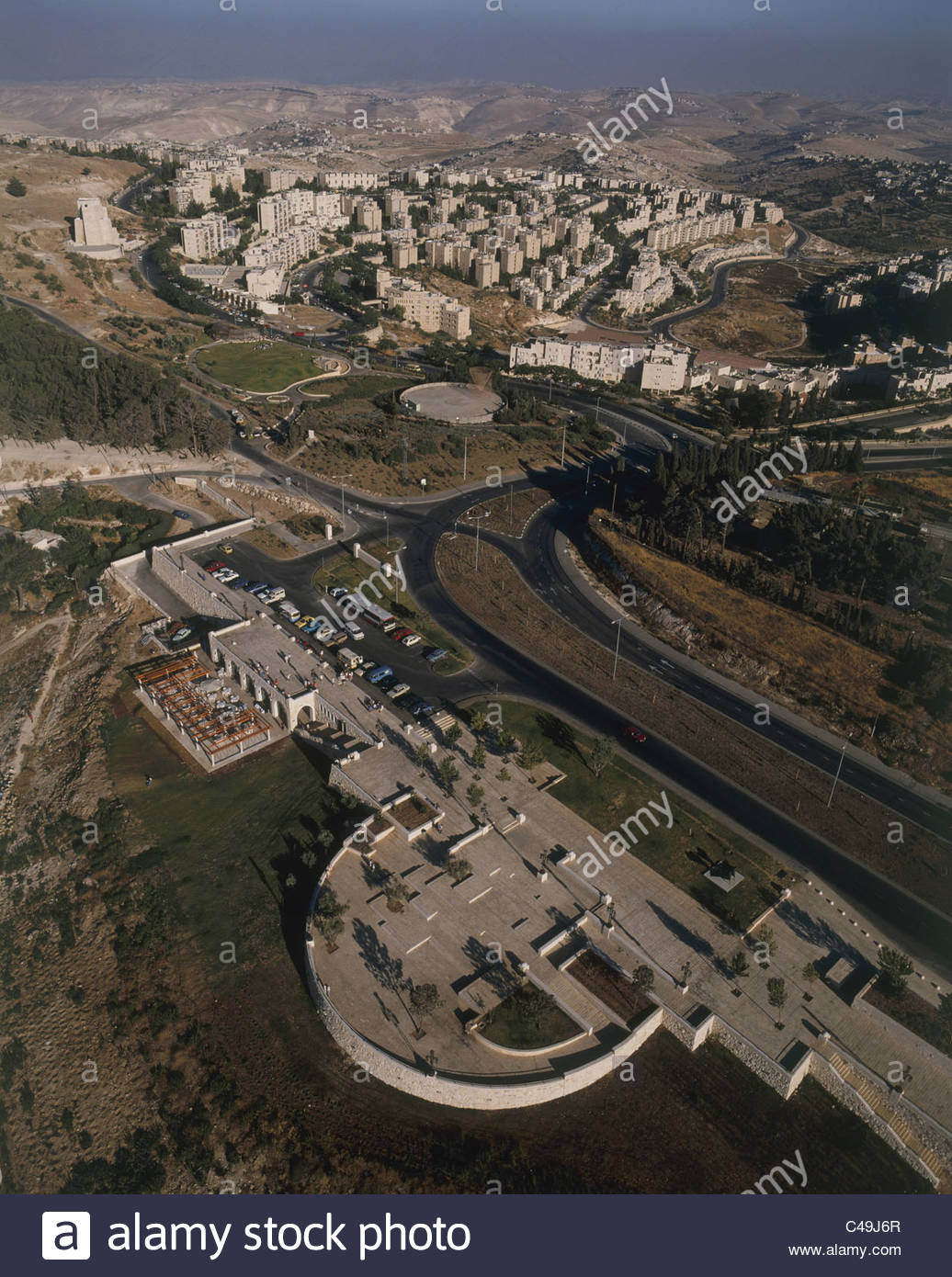 Haas Promenade Jerusalem, Aerial photograph of the Haas promenade in the new city of ...