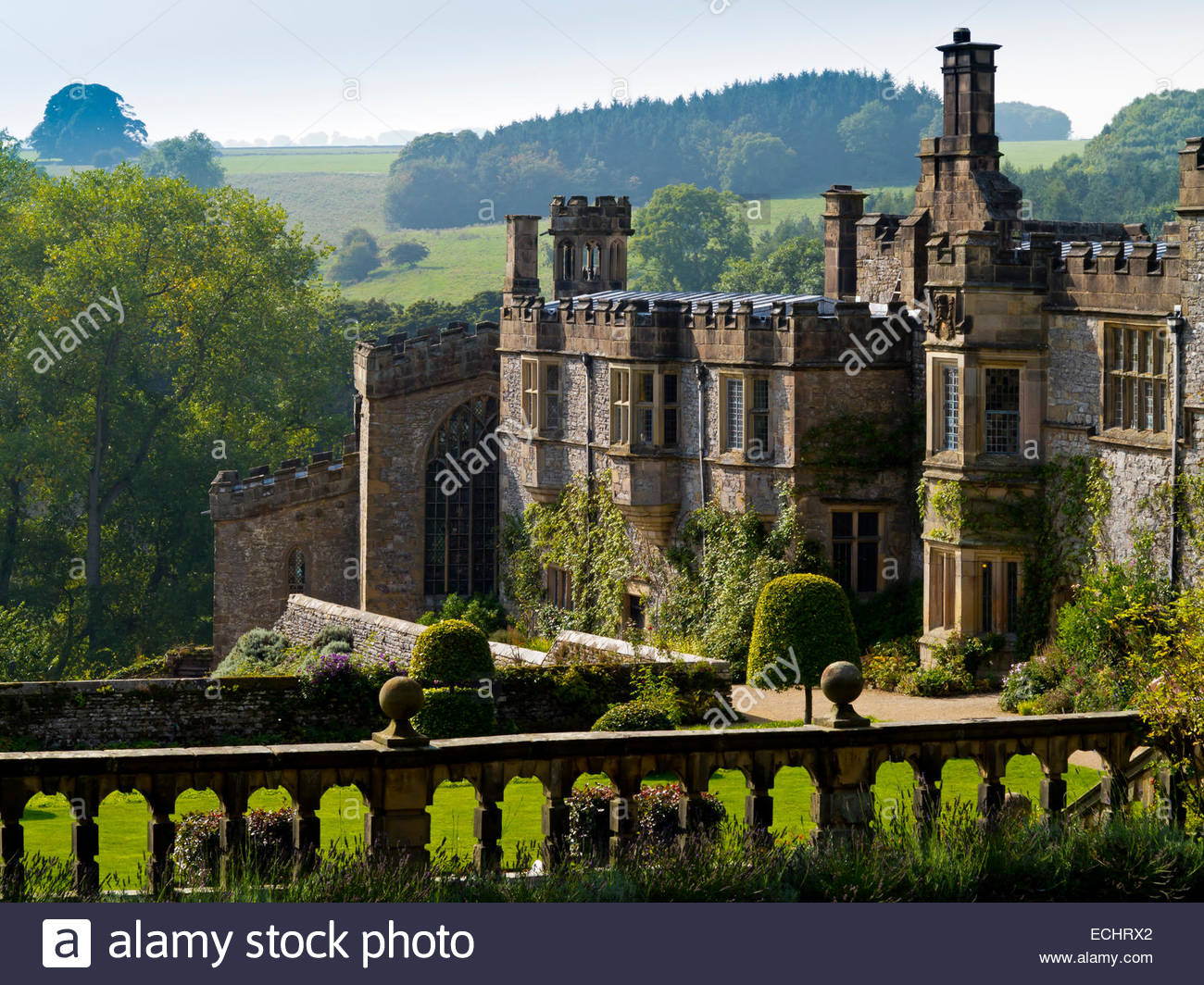 Haddon Hall Bakewell, Haddon Hall near Bakewell in the Peak District Derbyshire Dales ...