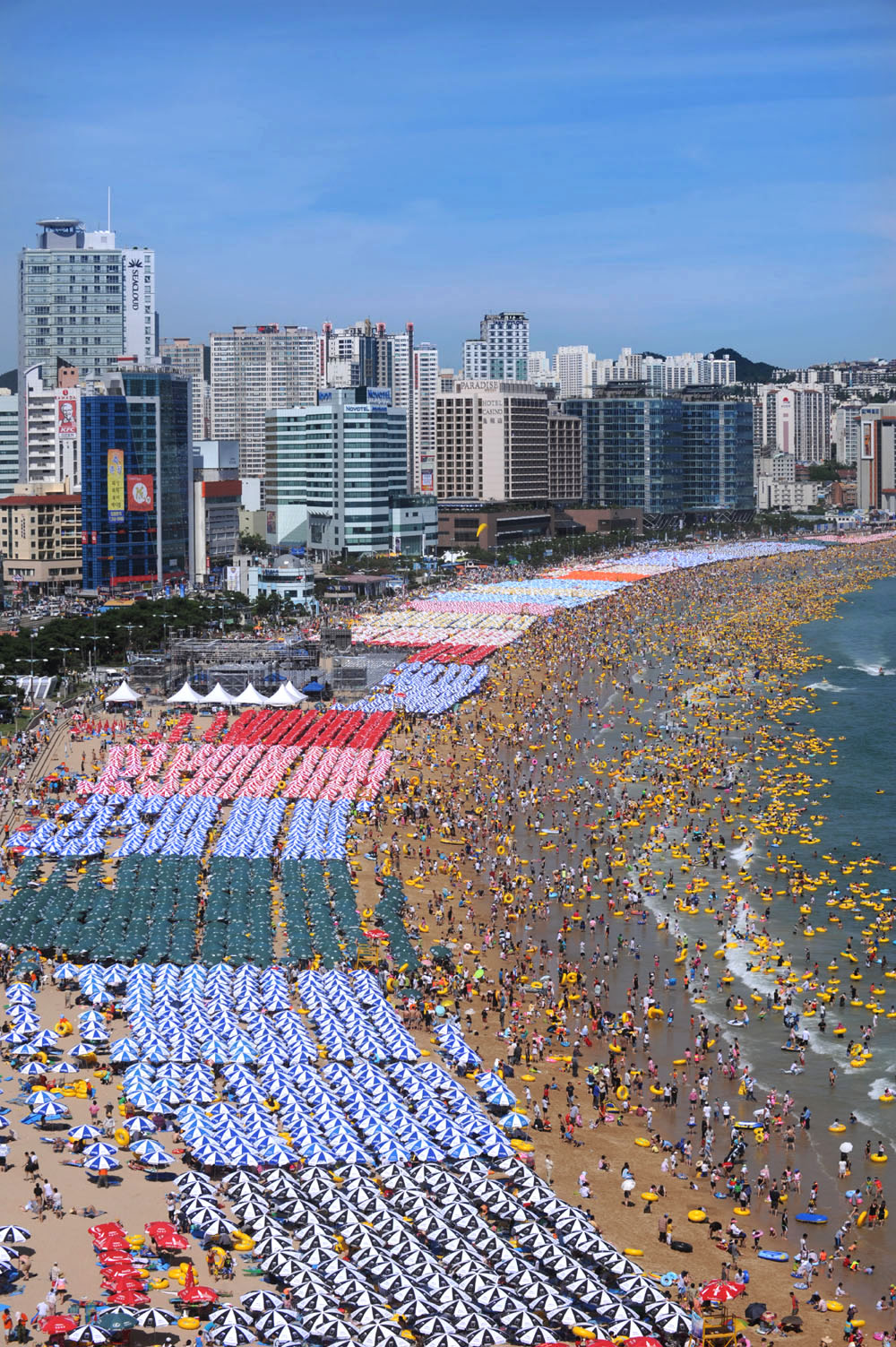 Haeundae Beach Busan, Haeundae Beach in Busan, South Korea. Not likely to be crowded in ...