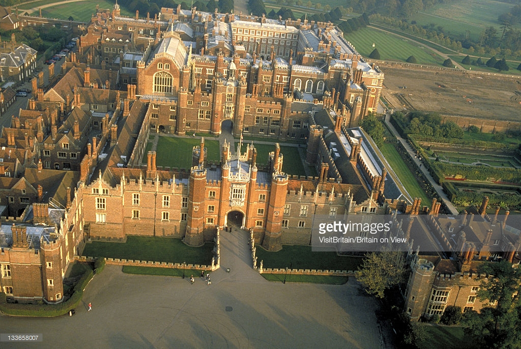 Hampton Court Palace London, Aerial View Of Hampton Court Palace And Grounds In London Hampton ...