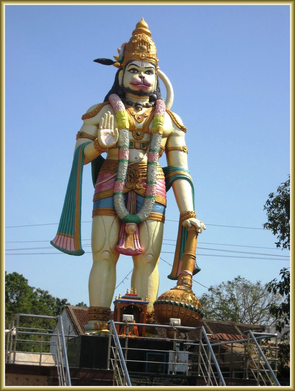 Hanuman Murti and Sri Dattatreya Ashram West Coast, Tall statue of Lord Anjaneya Hanuman is located at beautiful ...