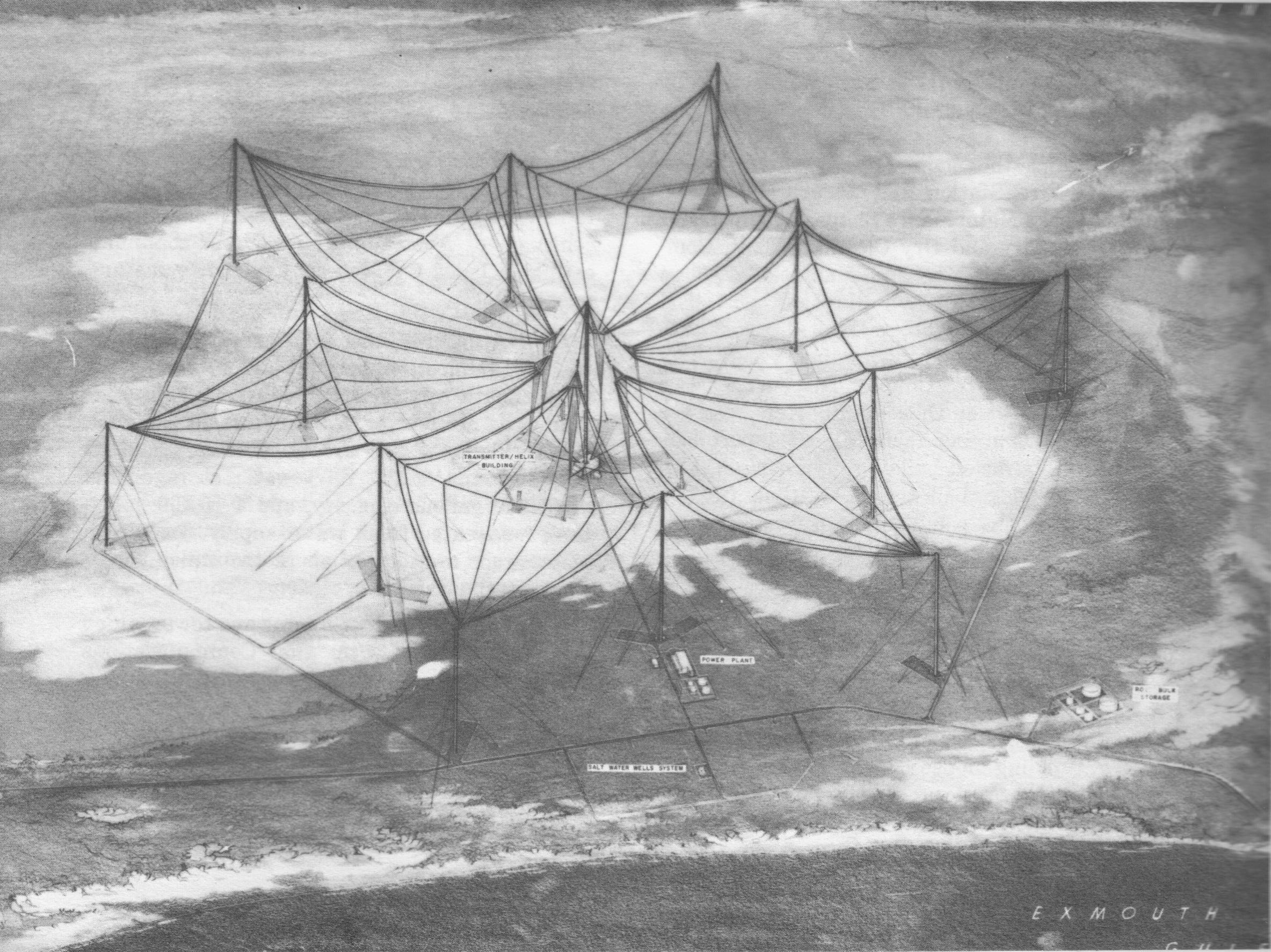 Harold E Holt Naval Communication Station Around Exmouth, NAVCOMMSTA North West Cape (renamed Harold E. Holt 9/68), Exmouth ...