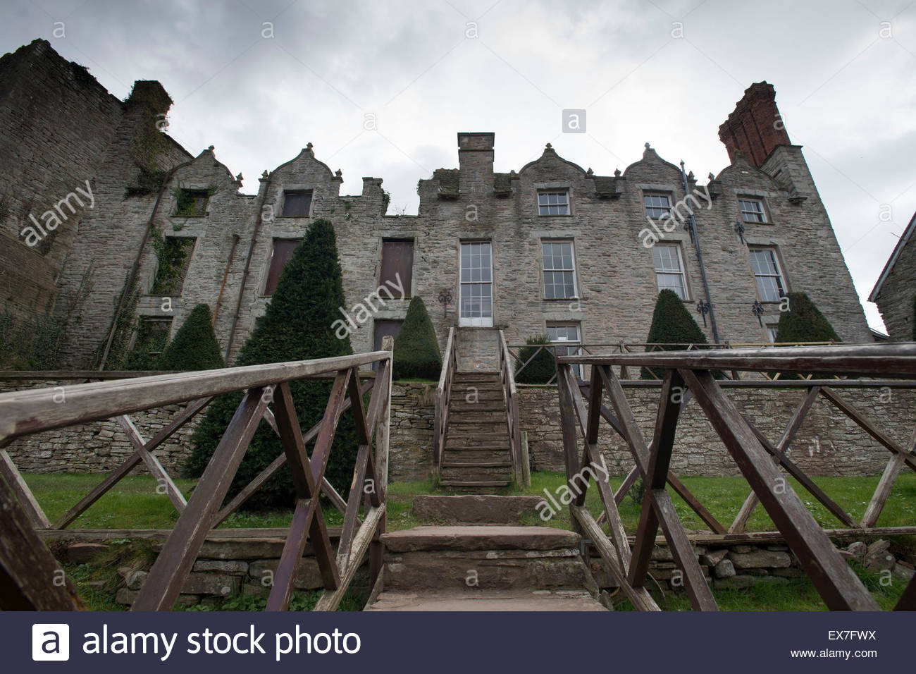 Hay Castle Mid-Wales, Hay Castle in Hay-on-Wye, mid Wales Stock Photo, Royalty Free ...
