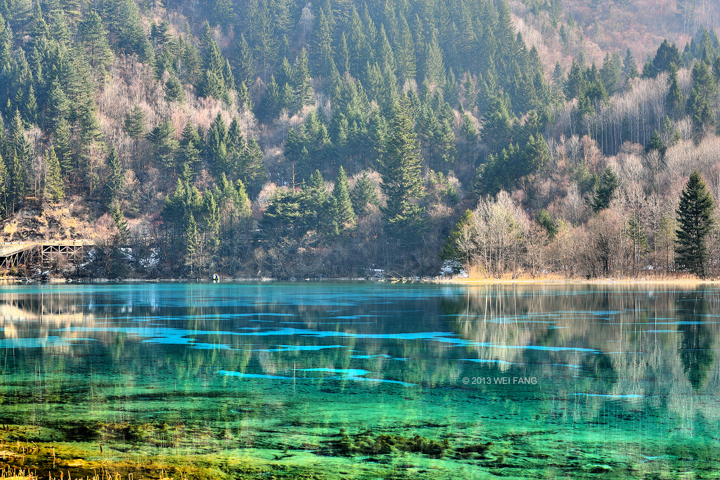 Heavenly Lake The Silk Road, Five Color Lake (五花海) in Jiuzhai Valley (九寨沟) | Heritage ...