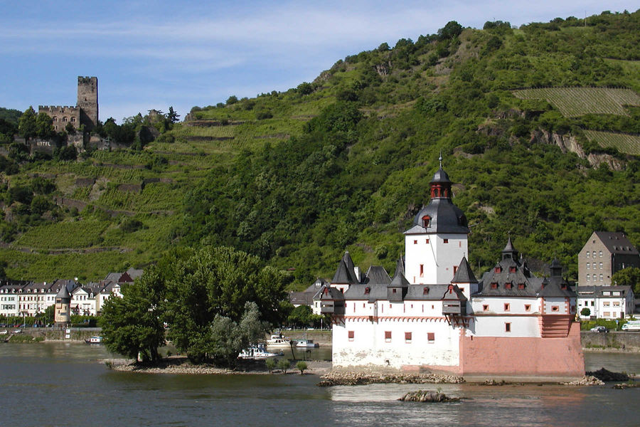 Schillerplatz The Pfalz and Rhine Terrace, The Rhine River: Raging with History by Rick Steves