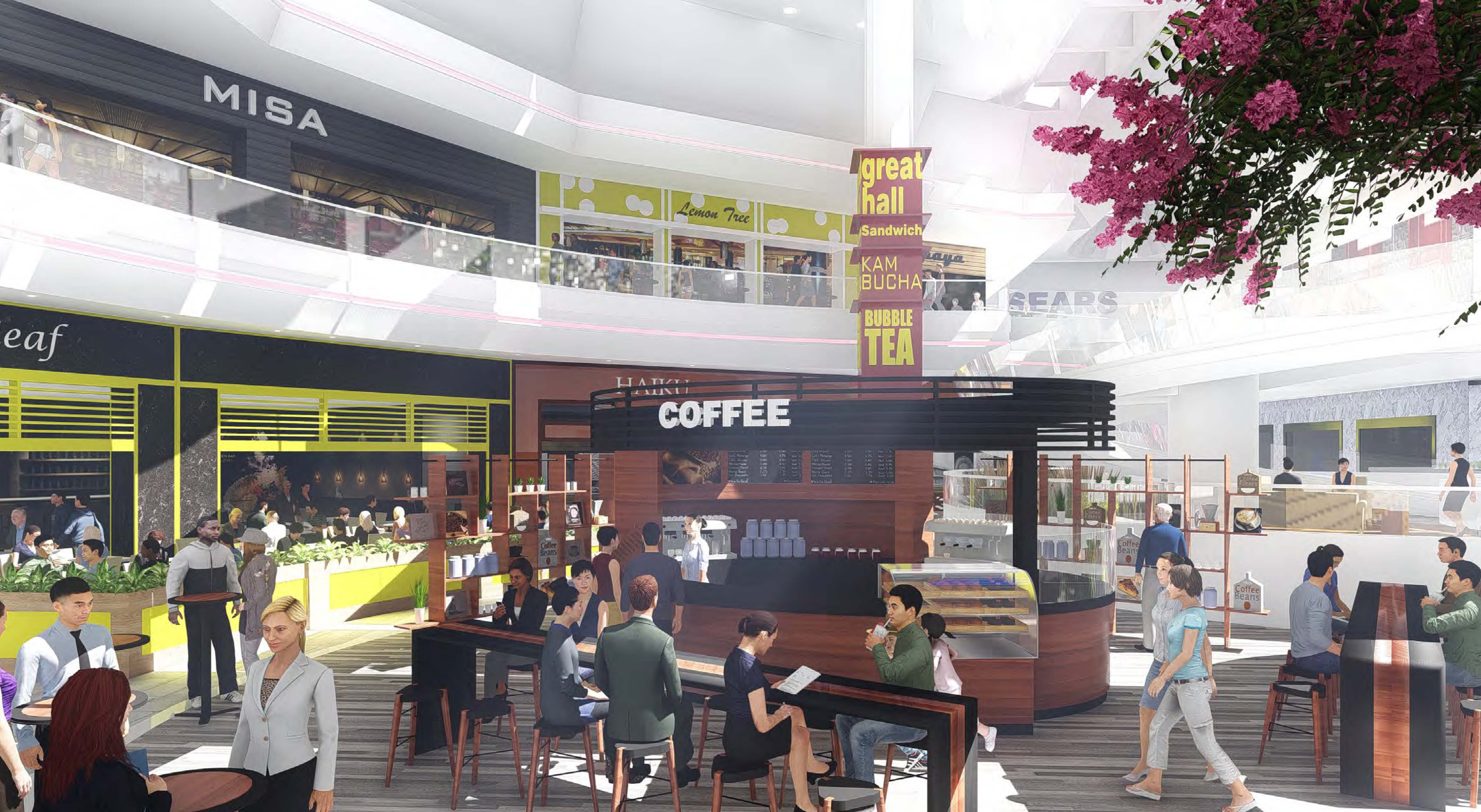 Hilltop Coffee House & Family Center Americas, The Shops at Hilltop unveil renderings of potential future ...