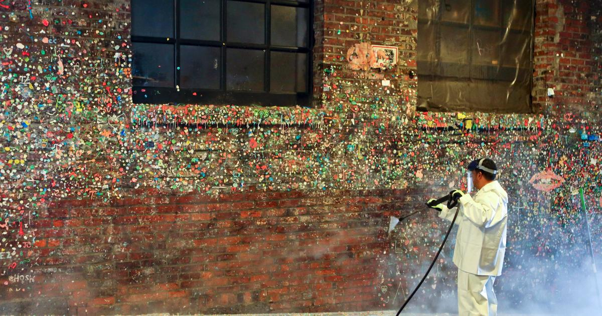 Hiram M Chittenden Locks Visitor Center Seattle, Seattle's Market Theater Gum Wall gets cleaned