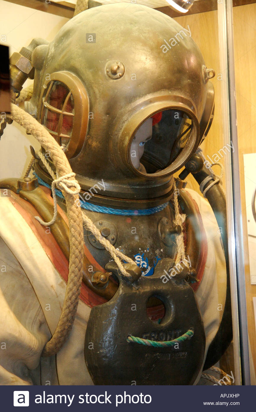 Holyhead Maritime Museum Holyhead, Divers Suit Holyhead Maritime Museum Stock Photo, Royalty Free ...