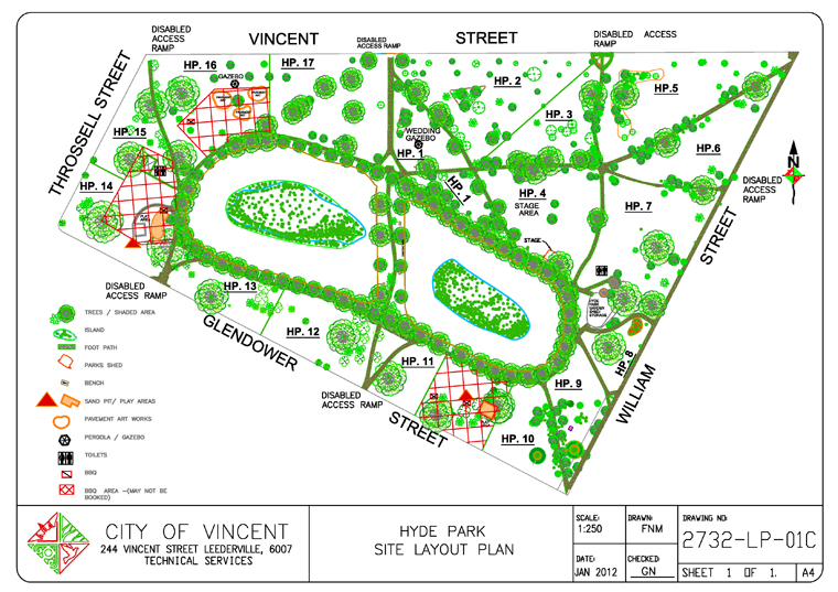 Hyde Park Perth, Application for Hire - Hyde Park Booking Form » City of Vincent