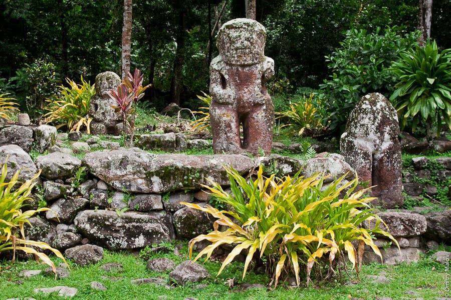 Iipona Puamau, Panoramio - Photo of Tikis at Meʻae Iipona, Puamau, Marquesas ...