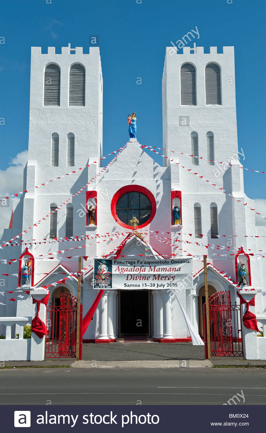 Immaculate Conception Cathedral Apia, The Immaculate Conception of Mary Cathedral in Apia, Samoa Stock ...